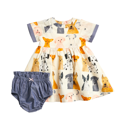 Olive Dress Set - Posh Tots Children's Boutique