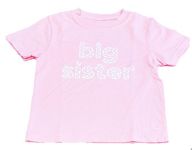 T-Shirt, S/S Big Sister - Posh Tots Children's Boutique