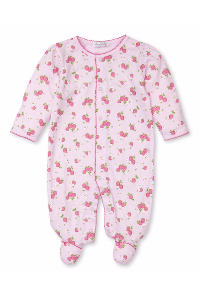 Strawberry Soiree Print Footie - Posh Tots Children's Boutique