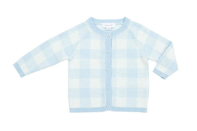 Gingham Cardigan - Pink or Blue - Posh Tots Children's Boutique