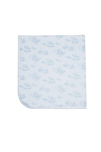 Blue Toile Blanket - Posh Tots Children's Boutique