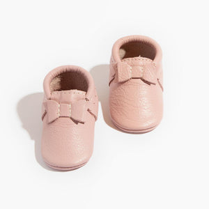 Blush Bow Moccasins - Posh Tots Children's Boutique