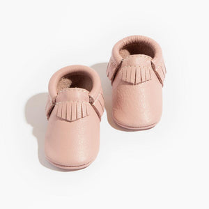 Blush Moccasins, Soft Sole - Posh Tots Children's Boutique