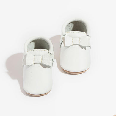 White Bow Moccasin - Posh Tots Children's Boutique