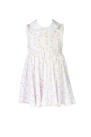Pink Bunny Twirl Dress - Posh Tots Children's Boutique
