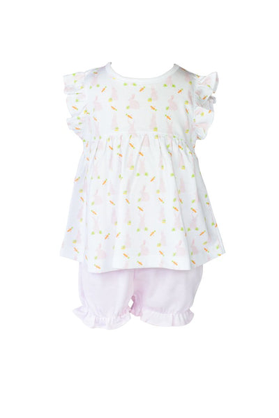 Pink Bunny Bloomer Set - Posh Tots Children's Boutique