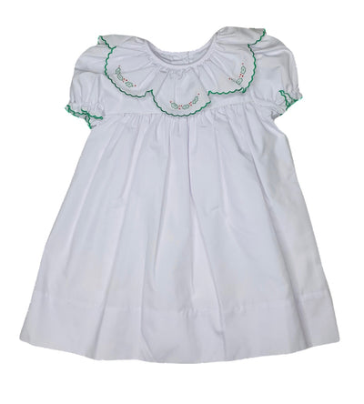 Holly Embroidered Dress - Posh Tots Children's Boutique