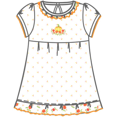 Autumn's Classics Embroidered S/S Toddler Dress - Posh Tots Children's Boutique