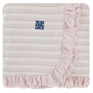 Ruffle Stroller Blanket - Everyday Heroes Sweet Stripe - Posh Tots Children's Boutique