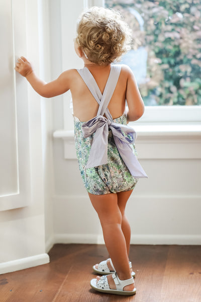 Evie Floral Sunsuit - Posh Tots Children's Boutique