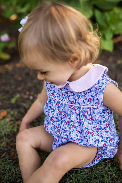 Mary Floral Bubble - Posh Tots Children's Boutique