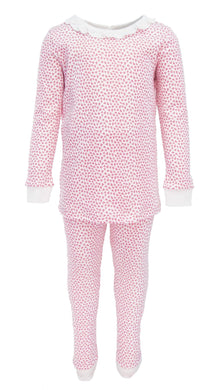 Ava Ruffled Pajamas - Hearts Afloat - Posh Tots Children's Boutique