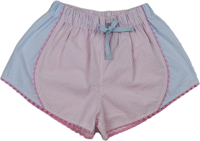 Elise Shorts - Pink/Blue - Posh Tots Children's Boutique