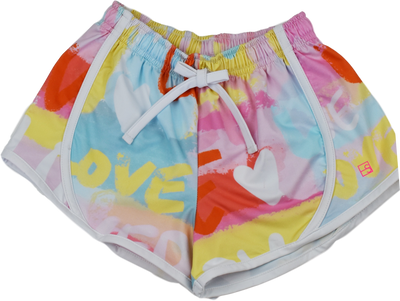 Elise Shorts - Love - Posh Tots Children's Boutique