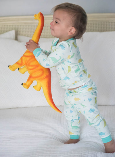 Boy's Dino 2-pc Jammie Set - Posh Tots Children's Boutique