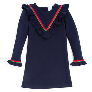 Noelle Dress - Navy Pique