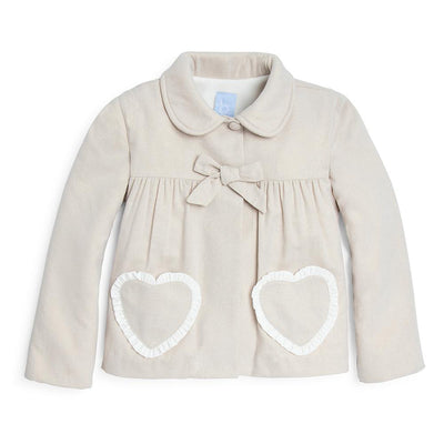 Swing Coat with Hearts - Posh Tots Children's Boutique