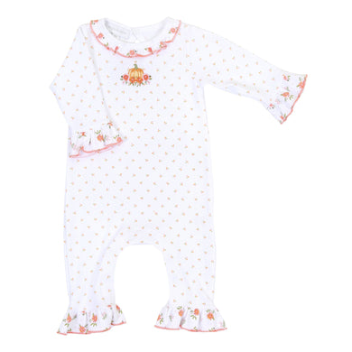 Autumn's Classics Embroidered Ruffle Playsuit - Posh Tots Children's Boutique