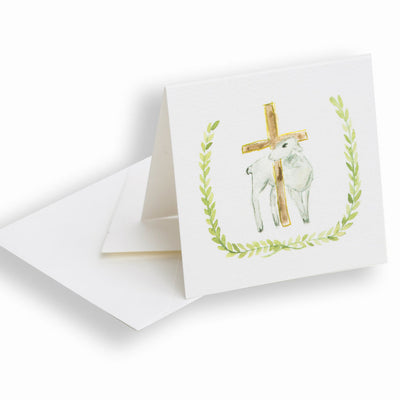 """Lamb and Cross"" Enclosure Card - Posh Tots Children's Boutique"