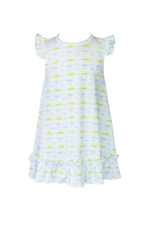 Fish Ruffle Dress - Posh Tots Children's Boutique