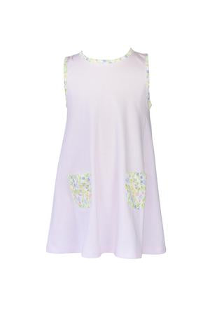 Garden Floral A-Line Dress - Posh Tots Children's Boutique