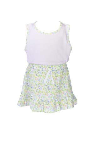Garden Floral Tank Shirt - Posh Tots Children's Boutique