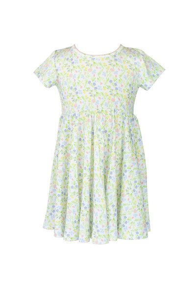 Garden Floral Twirl Dress - Posh Tots Children's Boutique