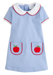 Apple Applique Libby Dress - Posh Tots Children's Boutique