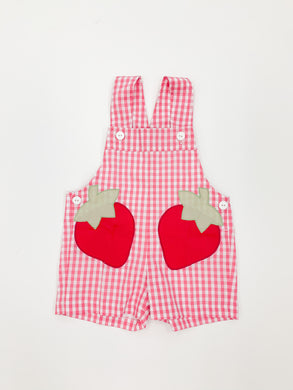Santos Strawberries Overalls - Posh Tots Children's Boutique