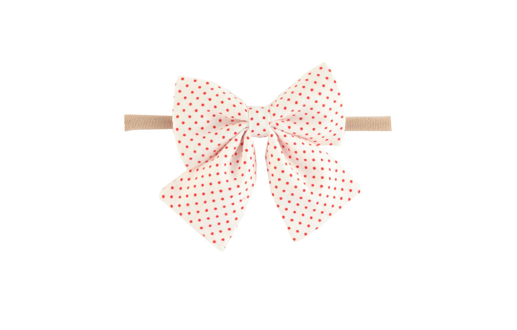 Red Dot Sailor Baby Headband - Posh Tots Children's Boutique