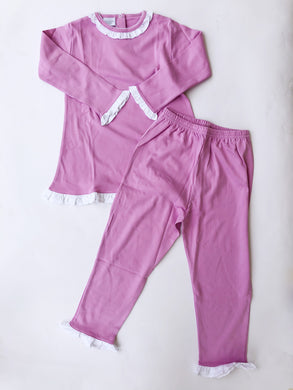 Orchid & White Pants Set