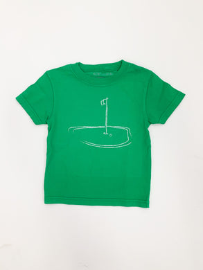 T-Shirt, S/S Golf Green & Flag - Posh Tots Children's Boutique