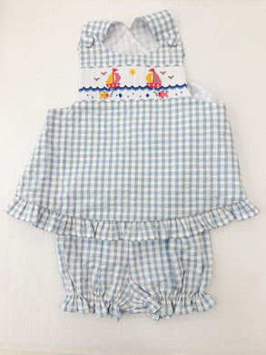 Sailboat & Fishes Bloomer Set - Posh Tots Children's Boutique