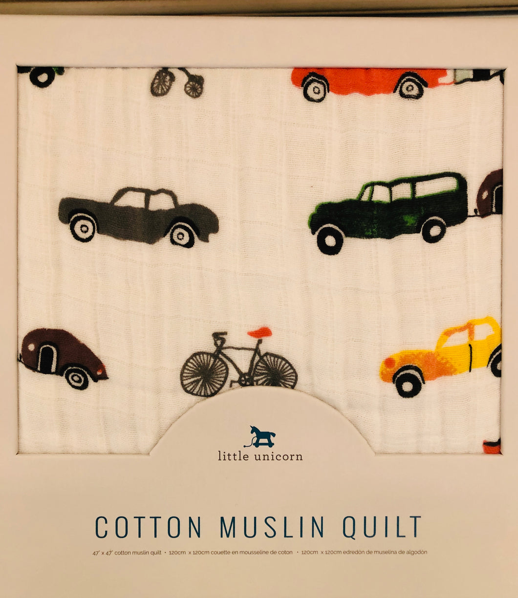 Cotton Muslin Baby Quilt - Transportation - Posh Tots Children's Boutique