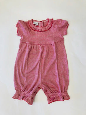 Red Coverall with Ruffle Neckline - Posh Tots Children's Boutique