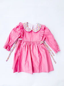Bubblegum Pink Corduroy Dress - Posh Tots Children's Boutique