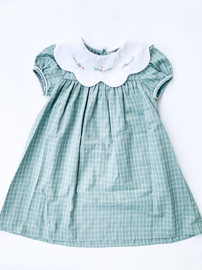 Ashford Green Plaid Dress - Posh Tots Children's Boutique