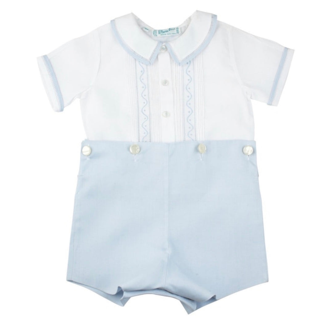 Embroidered Bobby Suit - Posh Tots Children's Boutique