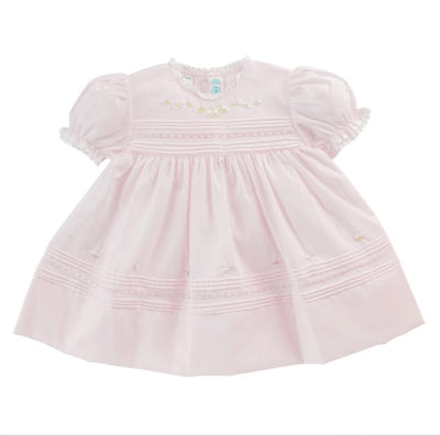 Floral Bullions Dress, Pink - Posh Tots Children's Boutique