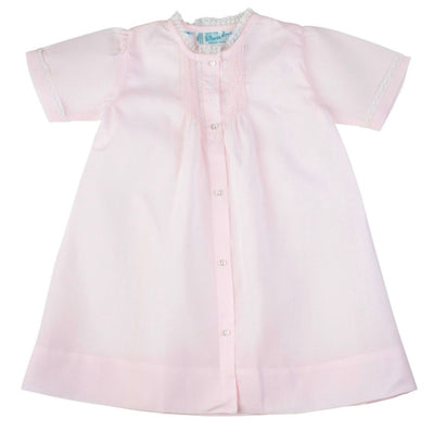 Pink Embroidered Folded Daygown - Posh Tots Children's Boutique