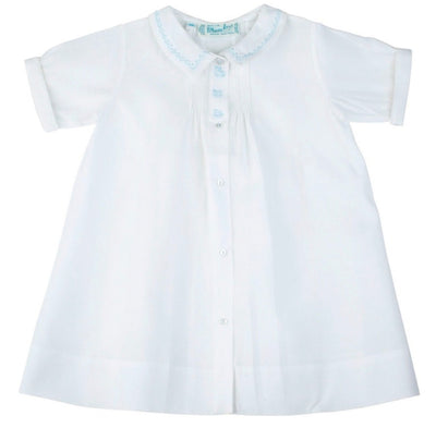 Boys Train Embroidery Folded Daygown - Posh Tots Children's Boutique