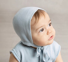 Load image into Gallery viewer, Ribbed Knit Bonnet - Posh Tots Children's Boutique