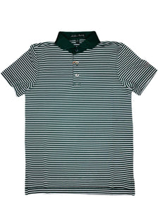 Hunter Green Stripe Polo