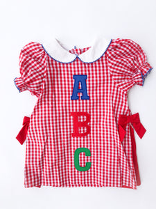 ABC Applique Dress - Posh Tots Children's Boutique
