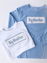 Load image into Gallery viewer, Big Brother Smocked Knit Shirt, Blue - Posh Tots Children's Boutique