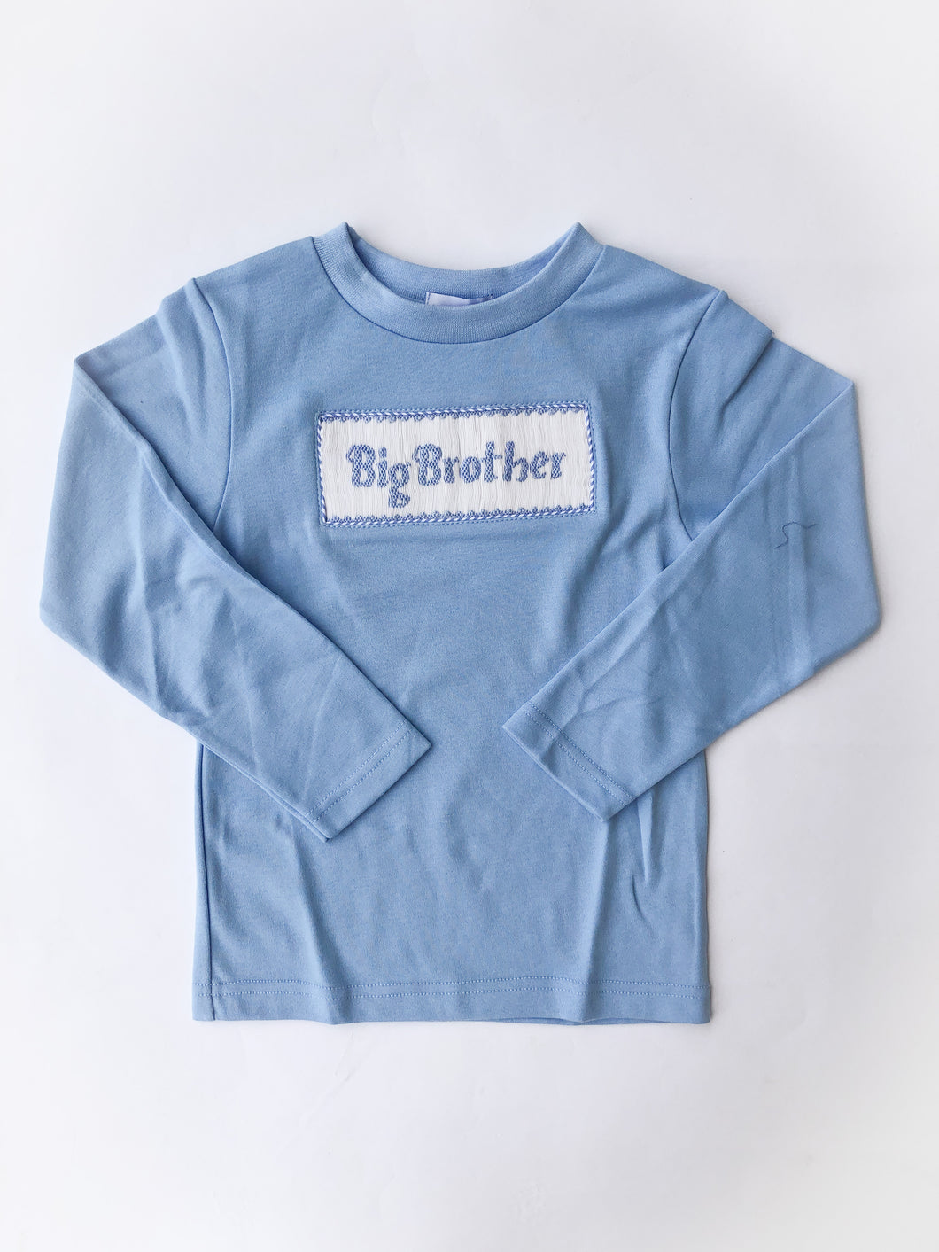Big Brother Smocked Knit Shirt, Blue - Posh Tots Children's Boutique