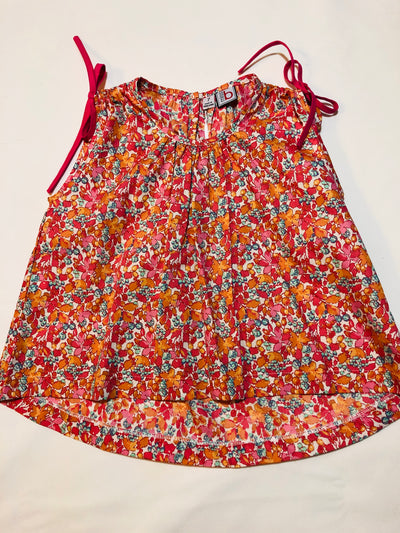 Jasmine Top Coral Floral - Posh Tots Children's Boutique