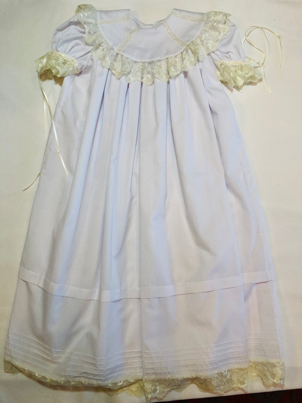 White Heirloom Wide Lace Dress - Posh Tots Children's Boutique