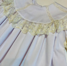 Load image into Gallery viewer, White Heirloom Wide Lace Dress - Posh Tots Children's Boutique
