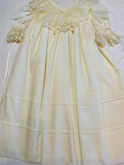 Heirloom Lace Collar Ivory Dress - Posh Tots Children's Boutique